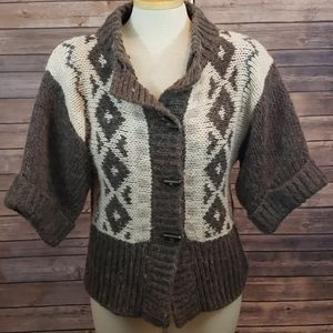 ELSAMANDA Alpaca Wool Button Cardigan Sweater